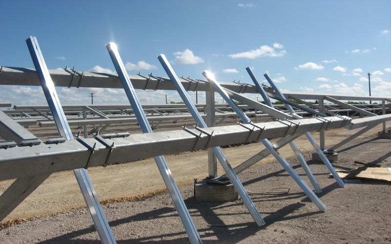 hurricane tolerant solar pv racks