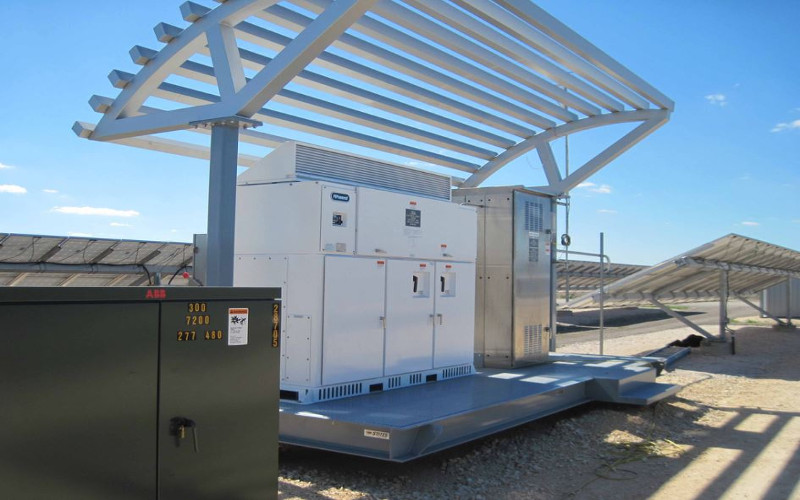 hurricane tolerant solar inverter with architectural feature