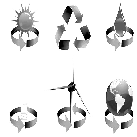 Renewable Icons bw