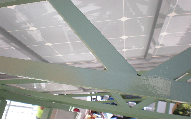 integrated energy surety canopy underside