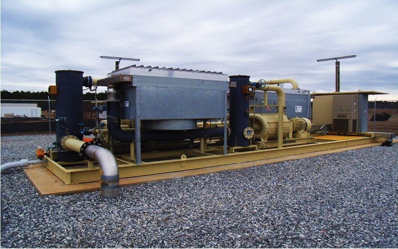 MCLB Albany WTE microgrid landfill gas lfg compression skid