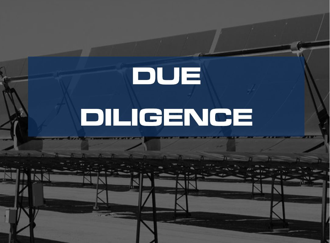 energy project deliverables due diligence